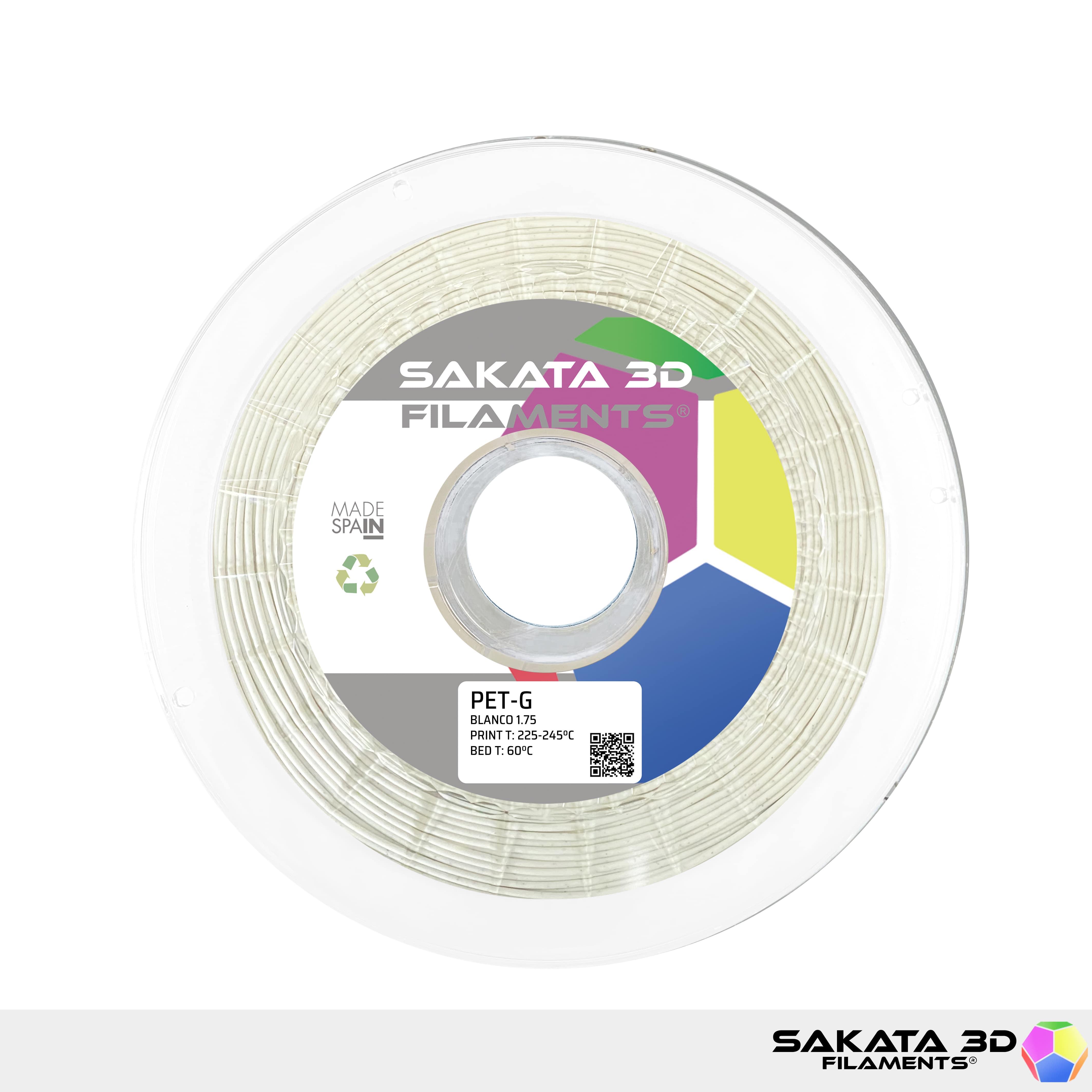 Filament 3D : PETG Sakata 3D Blanc